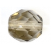 Fire polished 10mm Black Diamond Strung
